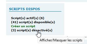 [TOUTES VERSIONS]Afficher les scripts disponibles et désactivés dans un widget (ADMIN) 2129