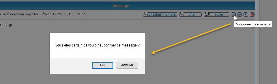 [PHPBB2] Supprimer directement un message sans retour 224