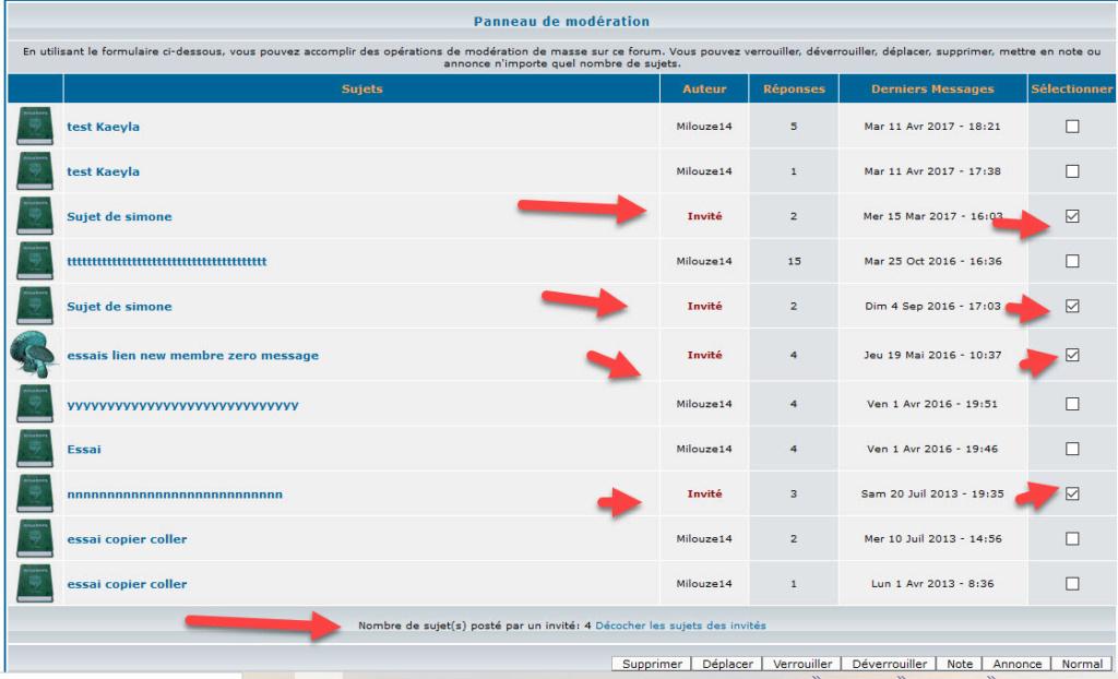 """[PHPBB2]Afficher le Pseudo dans l'outil de modération """"Modérer ce forum"""" 225"""