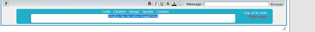 *RESOLU*[PHPBB2] Nouveaux BBcode pour le TchatBox : 312