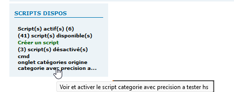 [TOUTES VERSIONS]Afficher les scripts disponibles et désactivés dans un widget (ADMIN) 337