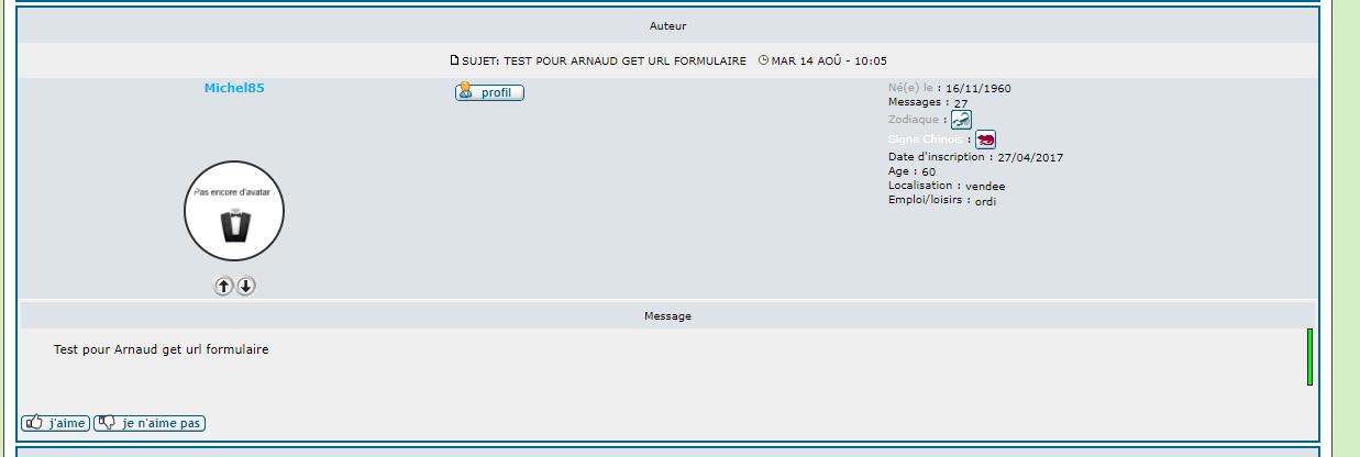 [PHPBB2] Afficher la partie profil au dessus du message Invite13