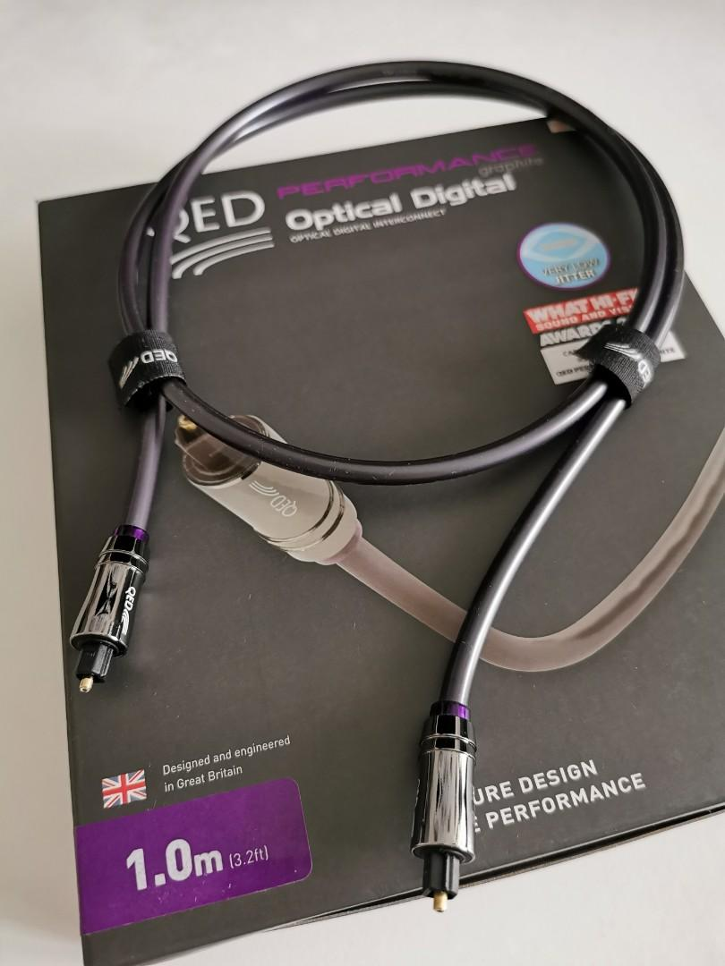 QED performance optical Graphite 1M Toslink Qed_pe11