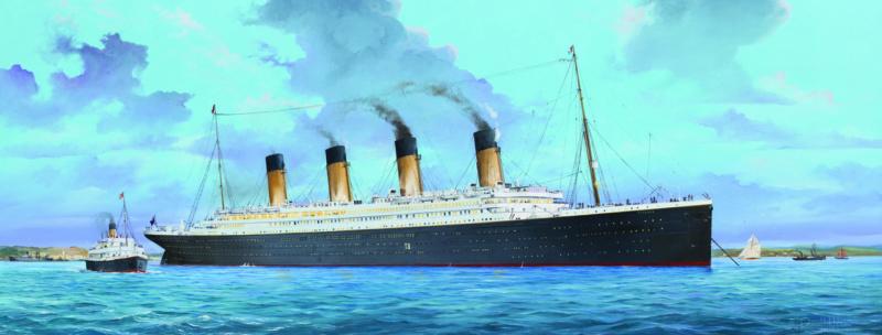 Montage Titanic Trumpeter 1/200 03713_10