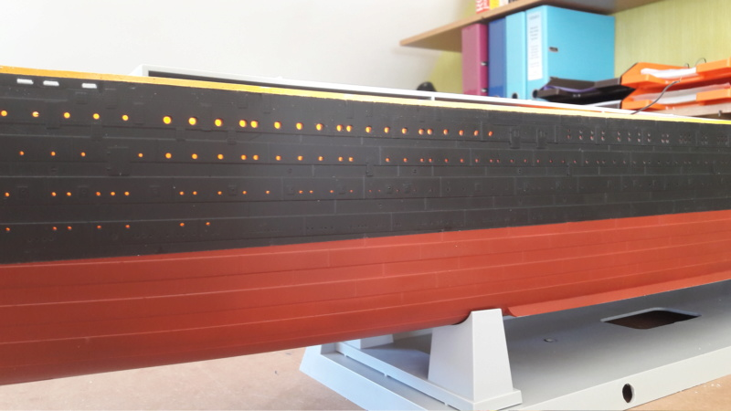 Montage Titanic Trumpeter 1/200 20200719