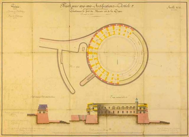 Documentation et modélisation du Fort de L'Ouest, grande rade, Cherbourg Deaf8c10