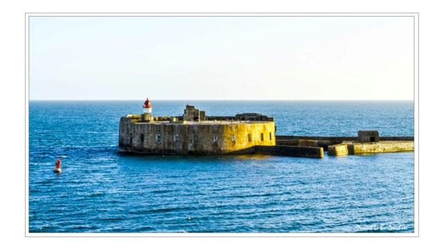 Documentation et modélisation du Fort de L'Ouest, grande rade, Cherbourg Rade_d12