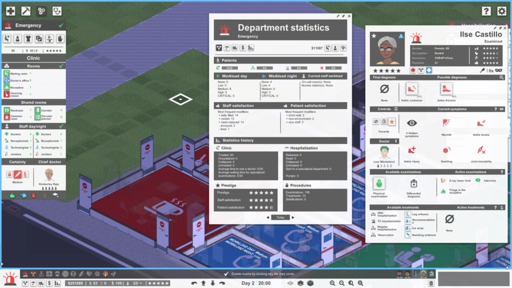 """[OPEN LOW] At """"Department statistics"""", it's taking into consideration planned but unbuilt rooms Screen11"""