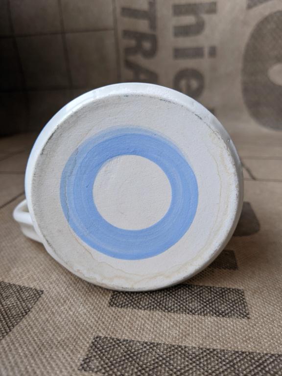 Blue and White Striped Mug, CP mark  Pxl_2014