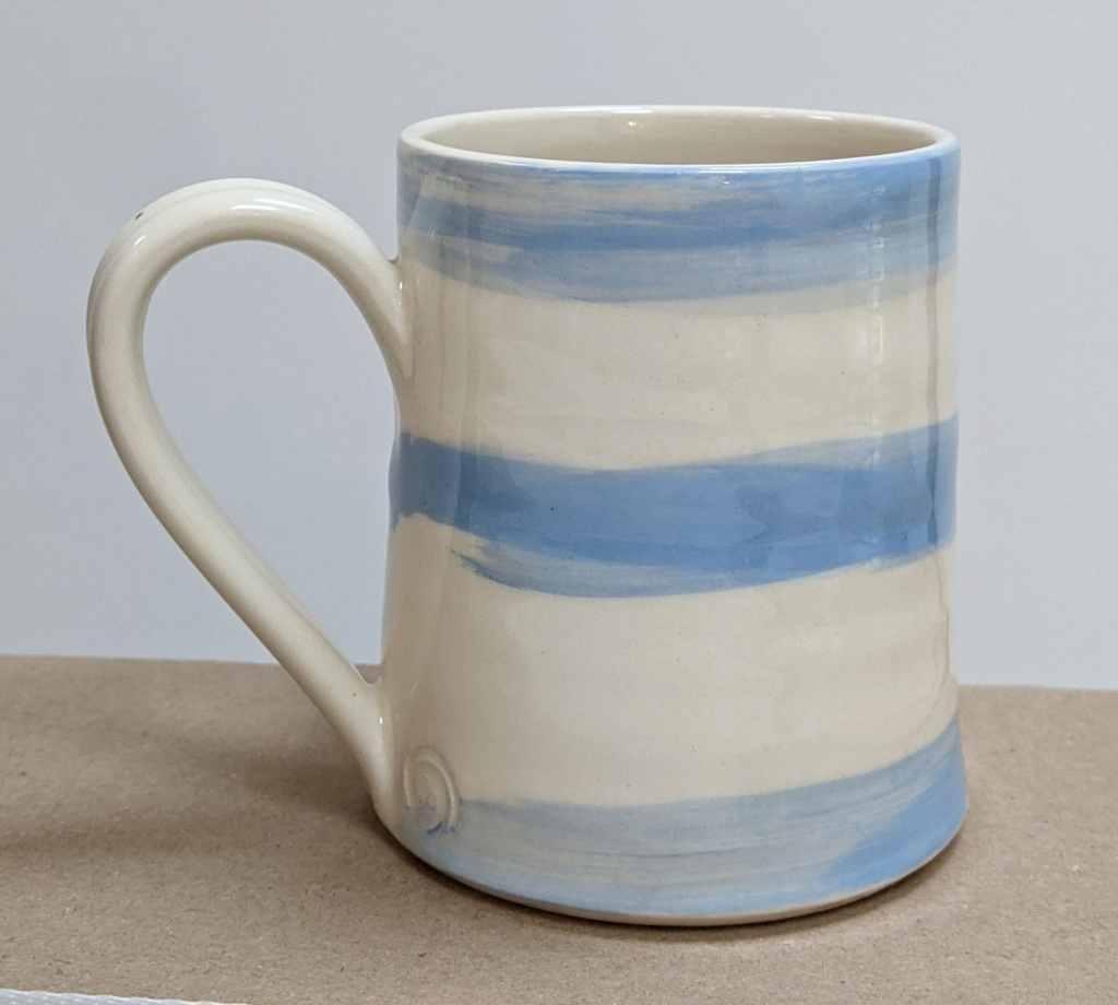 Blue and White Striped Mug, CP mark  Pxl_2015