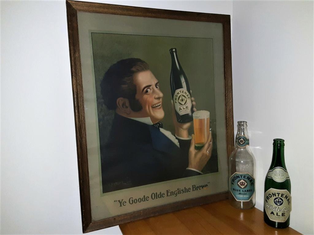 affiche publicité 1920 environ,, BIERE FRONTENAC,,dommage en anglais Bolduc11