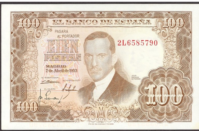 Investigación - Billetes de 100 pts 1953 Romero de Torres 100_pt15