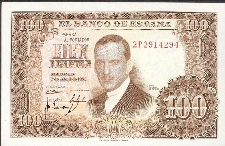 Investigación - Billetes de 100 pts 1953 Romero de Torres 100_pt16