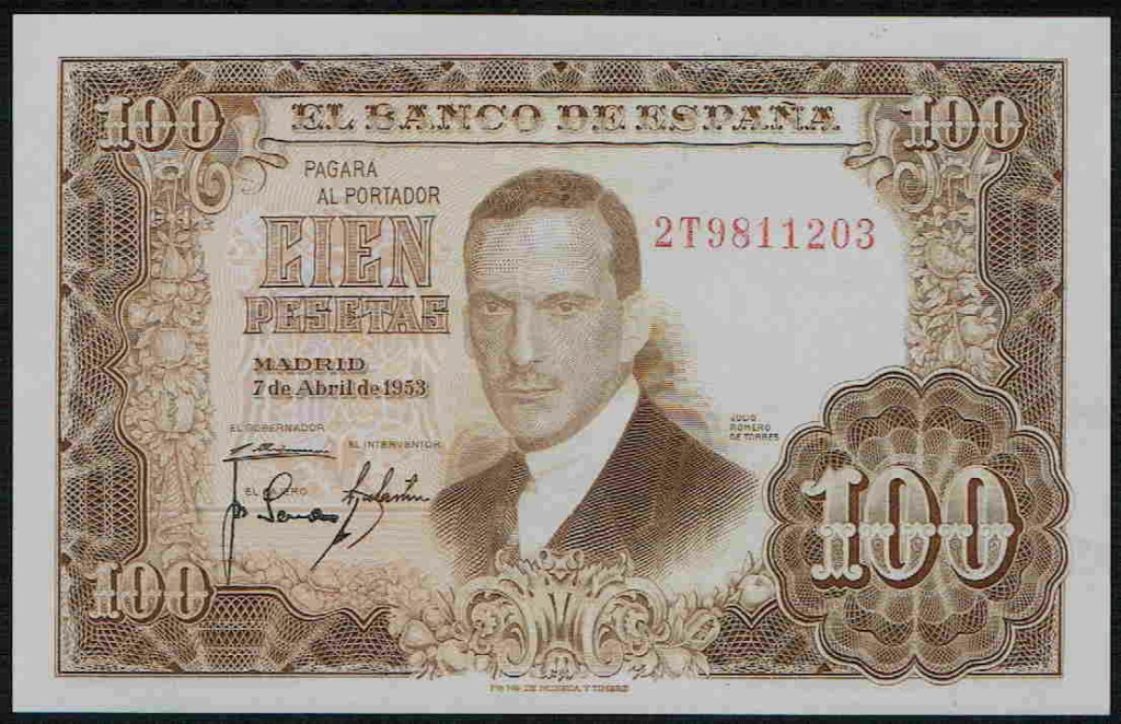 Investigación - Billetes de 100 pts 1953 Romero de Torres 100_pt25