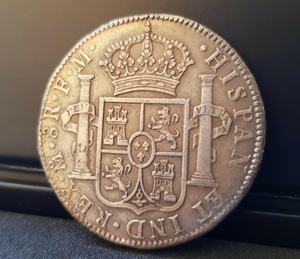 1790. Carlos IV. México. FM. 8 reales. Busto de Carlos III. Ordinal IIII 20201114