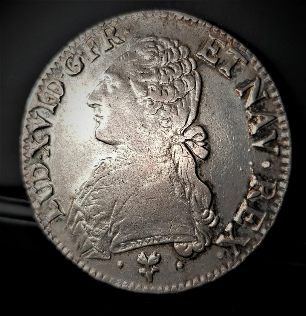 """LUIS XVI 1 Écu """"aux branch d'Olivier"""" 1788 Bayonne 20210122"""