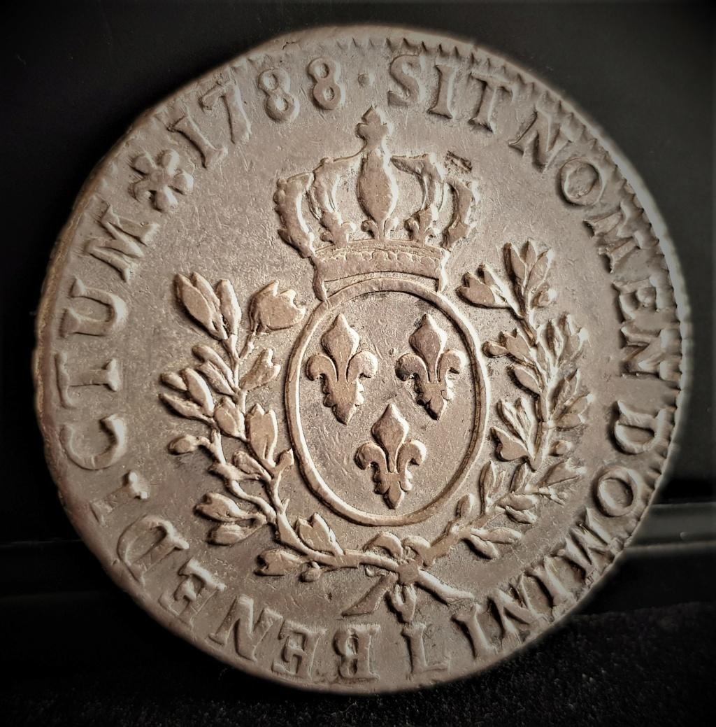 """LUIS XVI 1 Écu """"aux branch d'Olivier"""" 1788 Bayonne 20210219"""