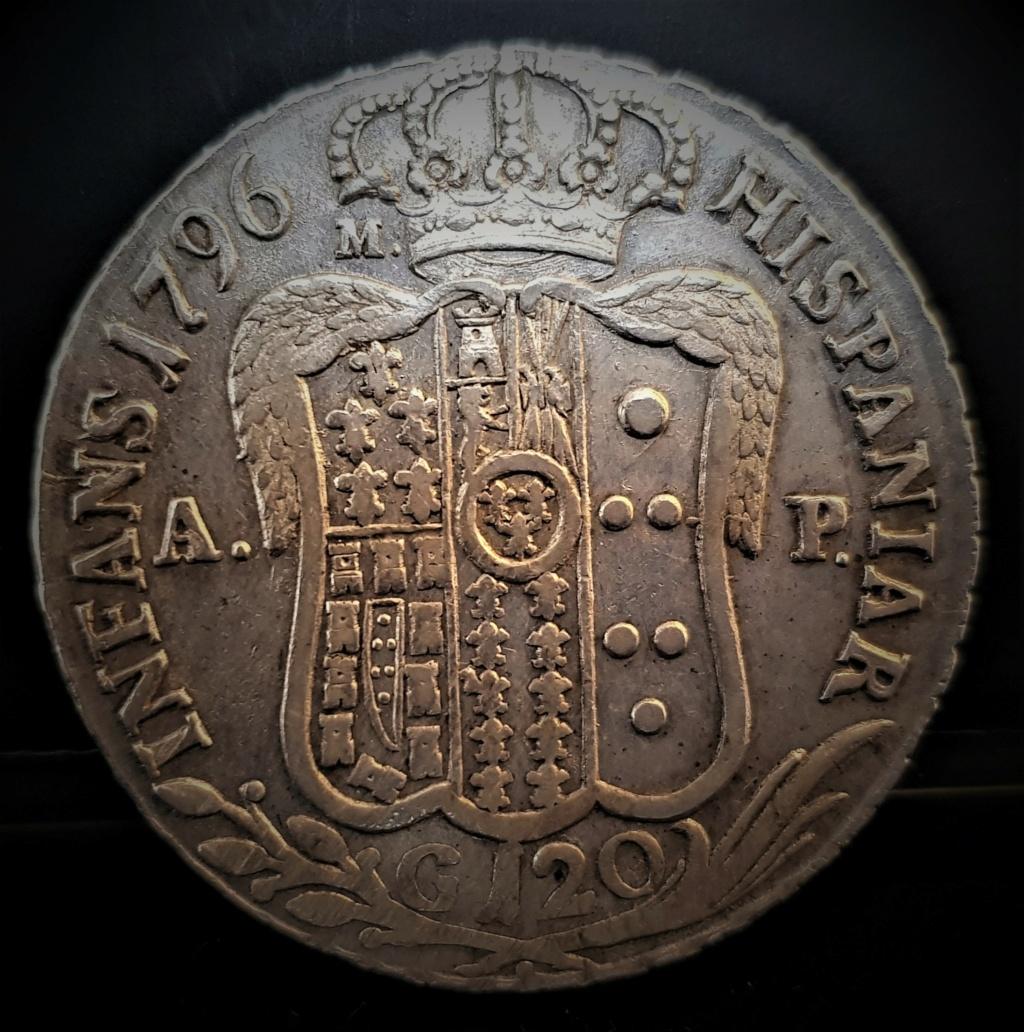 Fernando IV de Borbón 1796 120 Grana  REINO DE LAS DOS SICILIAS  20210230