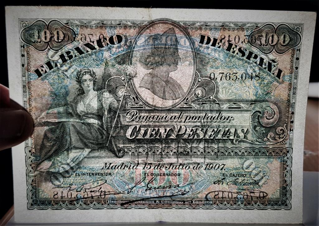 100 pesetas de 1907 Alegoría y Catedral de Sevilla 20210340