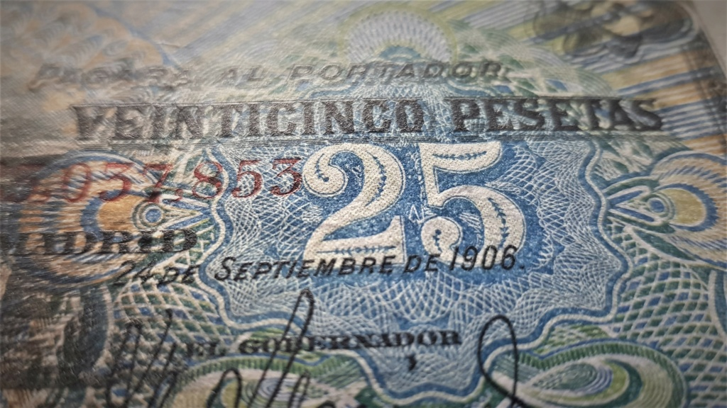 25 pesetas de Septiembre de 1906 20210375
