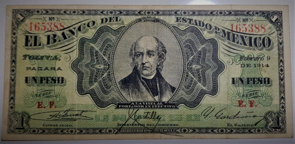 1 Peso de 1914 del Banco del Estado de México 20210516