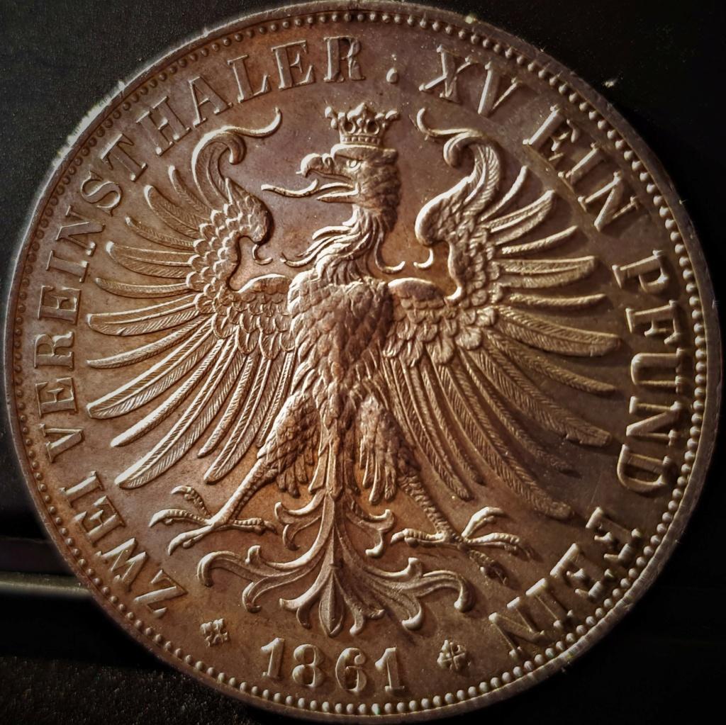 2 Vereinsthaler de 1861 de Frankfurt 20210525
