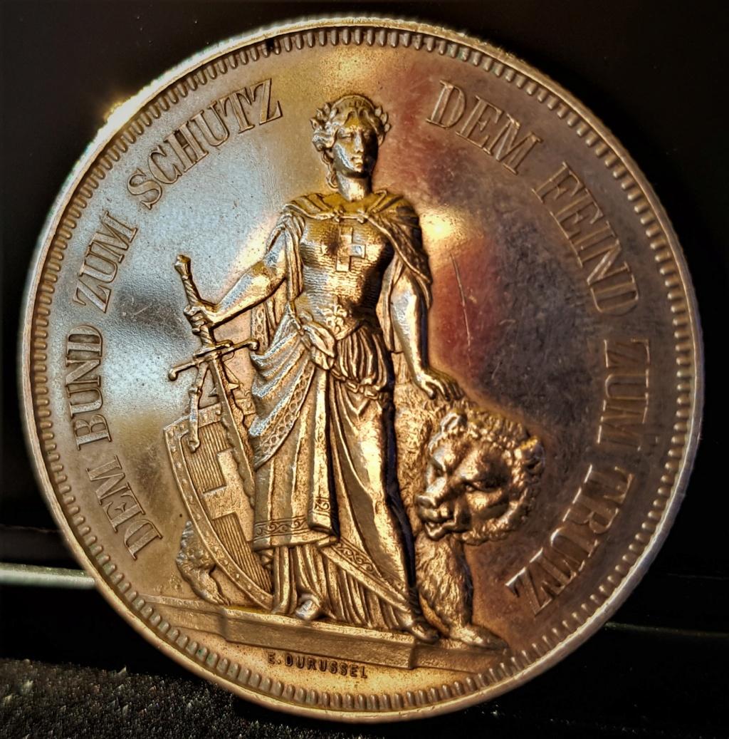 5 Francos Suizos de 1885 del Festival de Tiro de Berna 20210541