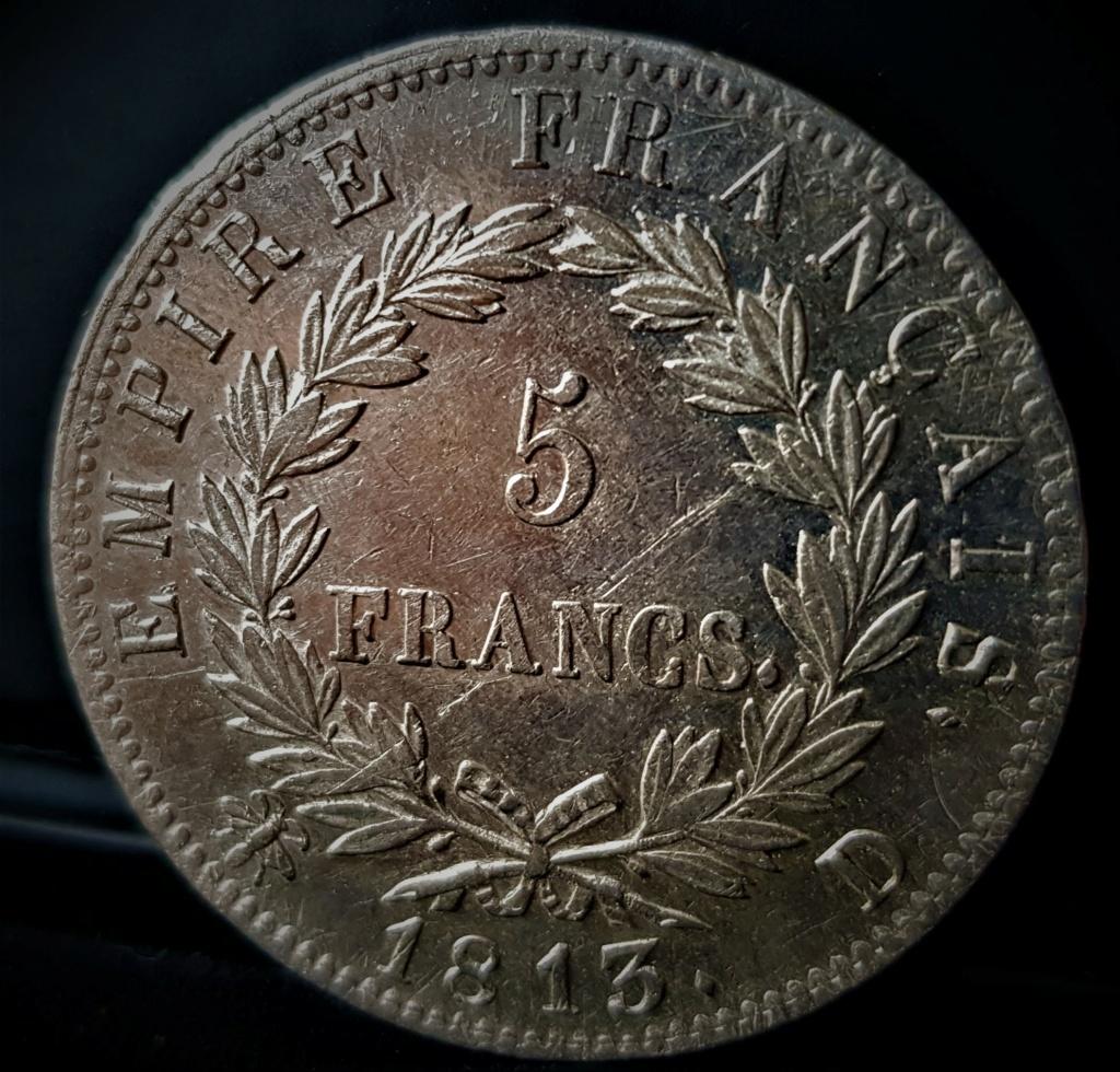 5 Francos de 1813 D (Lyon). Napoleón I. Francia. 20210572