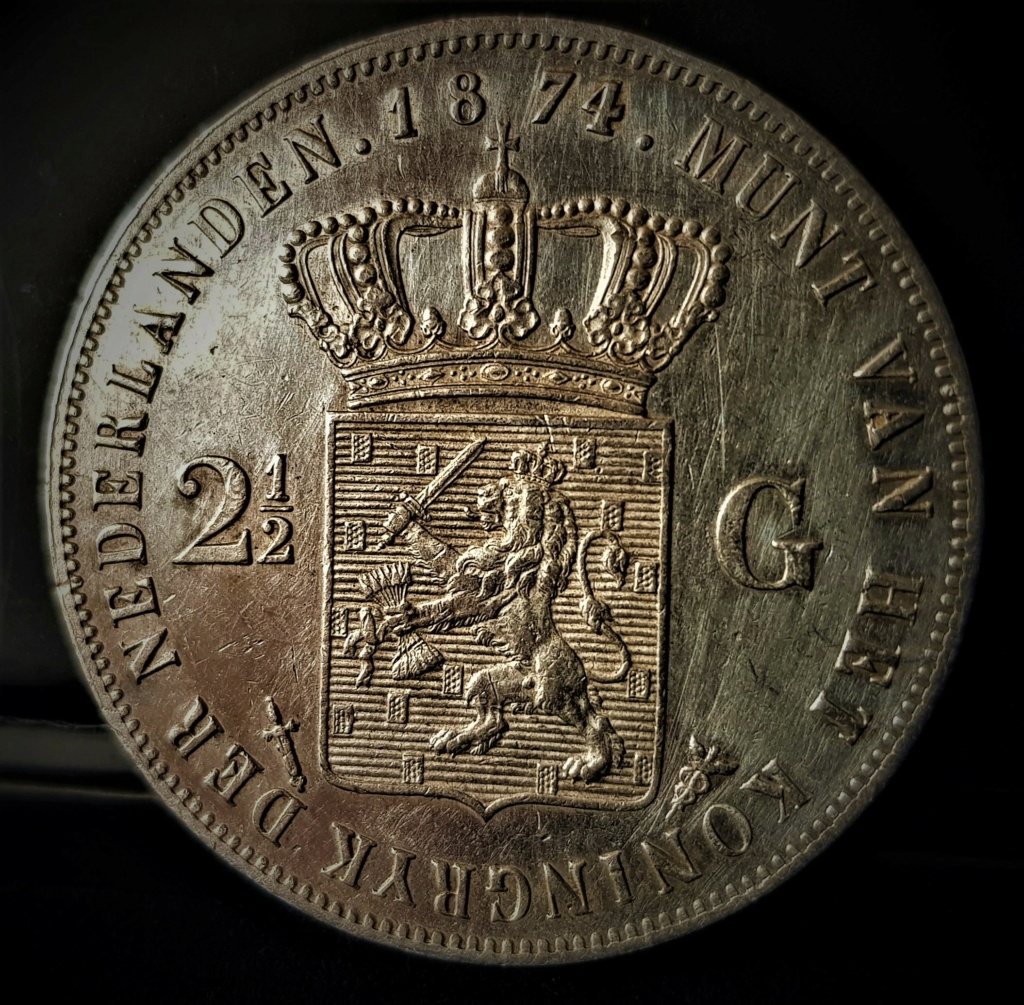Holanda, 2-1/2 Gulden de 1874 de Wilhelm III 20210581