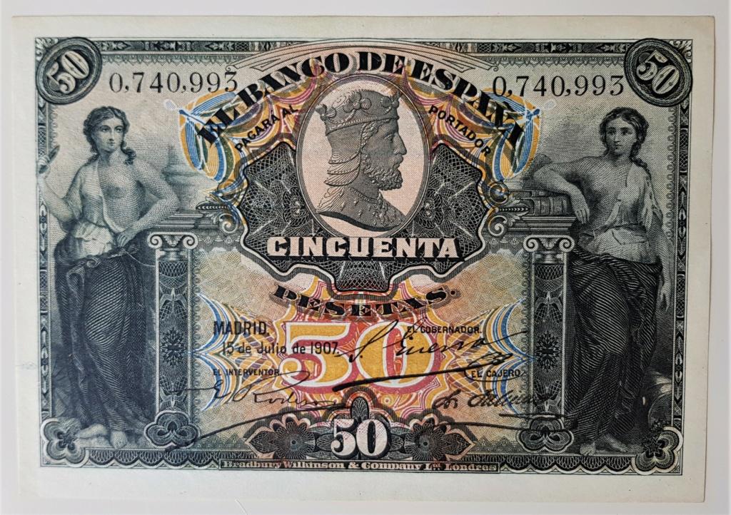50 Pesetas 15 Julio 1907 20210619