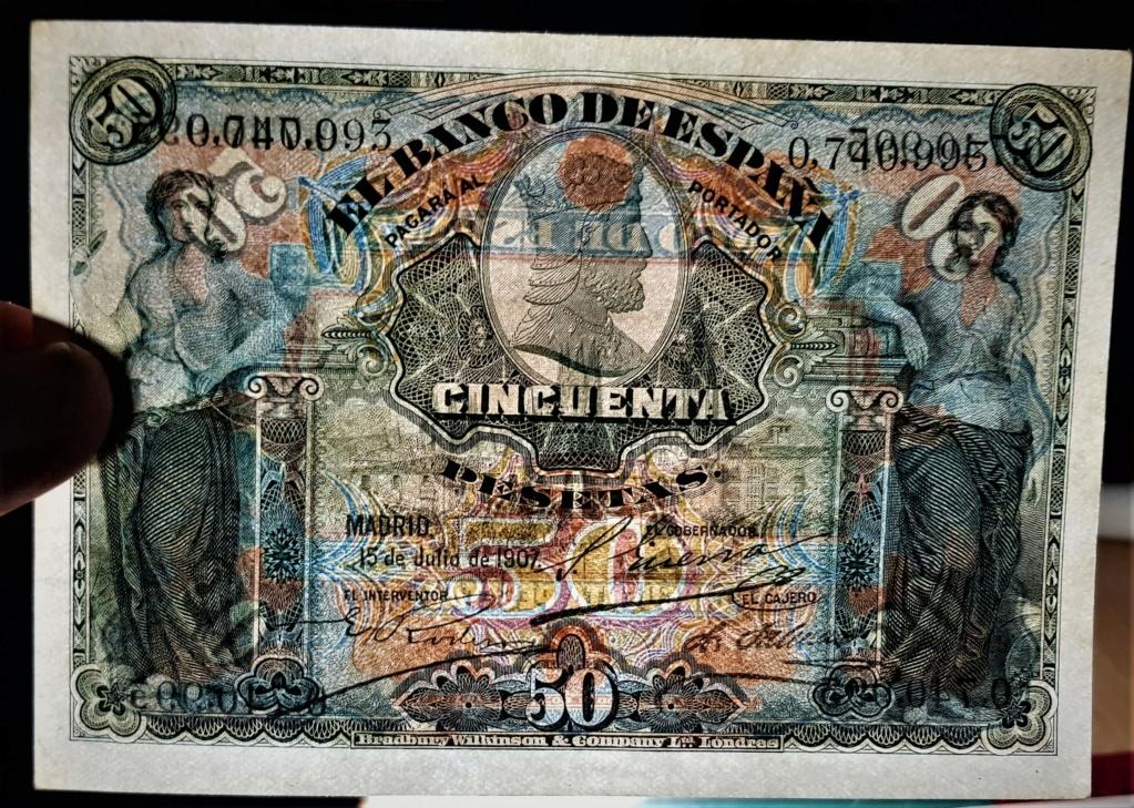 50 Pesetas 15 Julio 1907 20210627