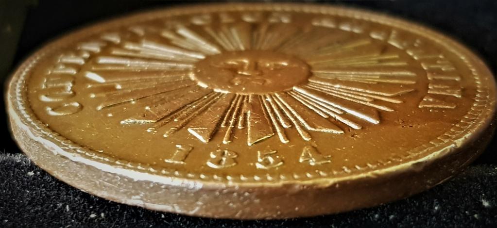 4 Centavos de 1854 de la Confederación Argentina 20210628