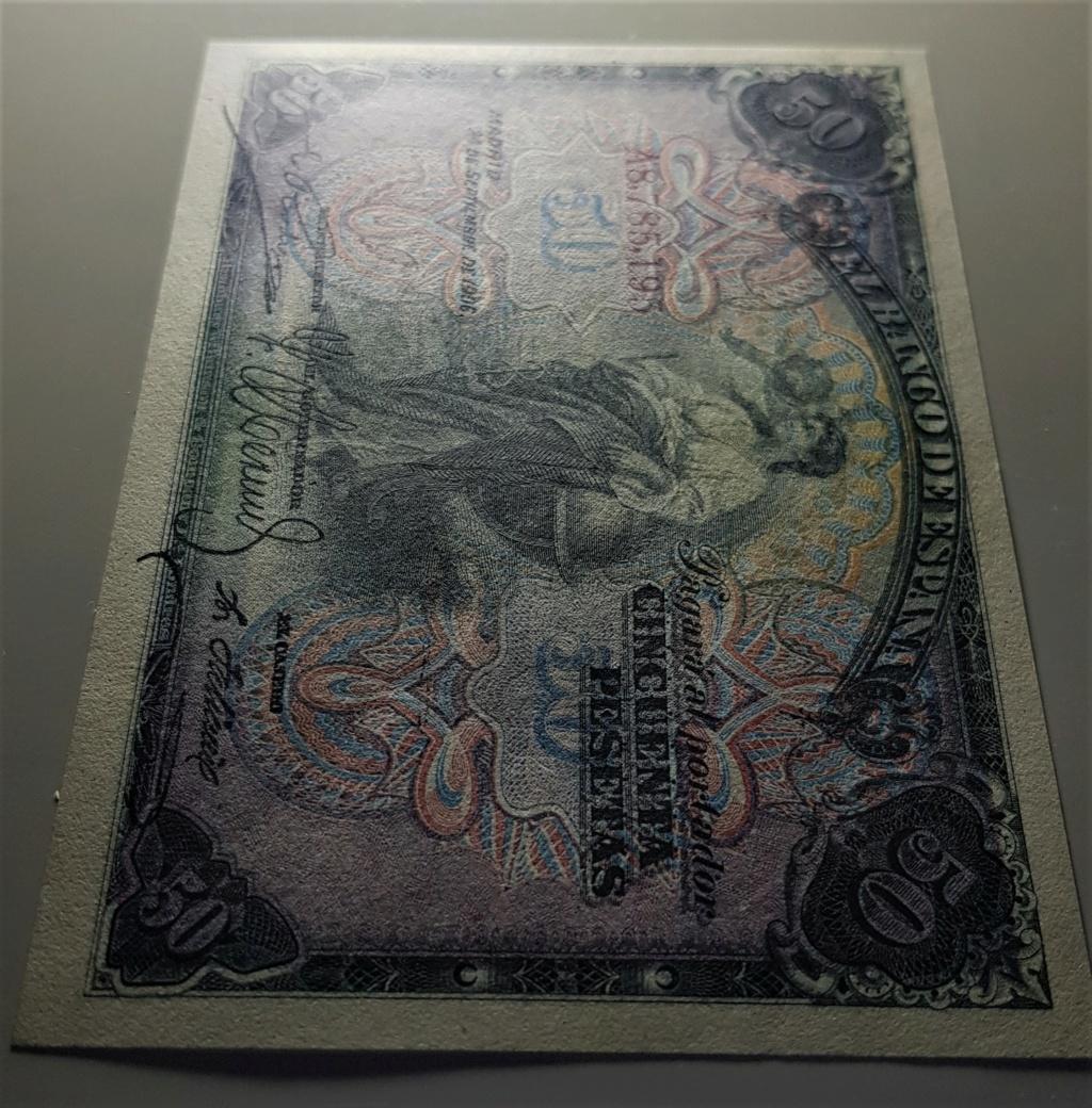 50 pesetas del 24 de septiembre de 1906.Serie A 20210631
