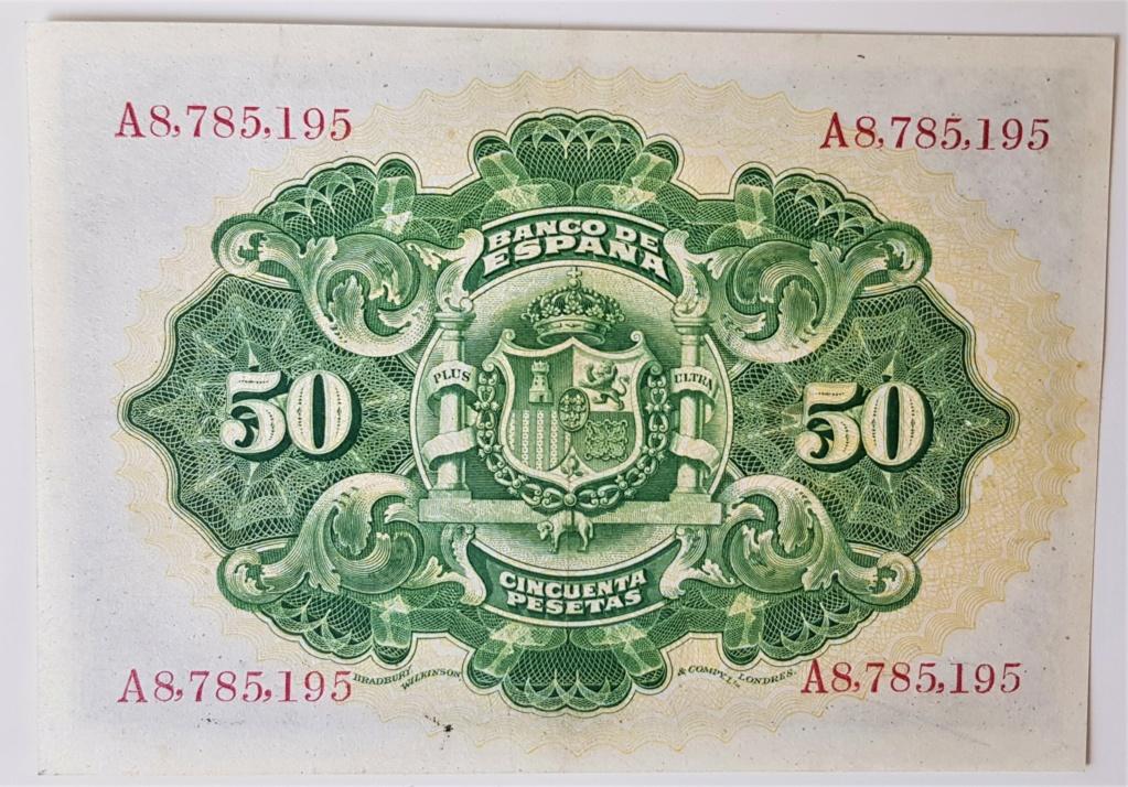 50 pesetas del 24 de septiembre de 1906.Serie A 20210632