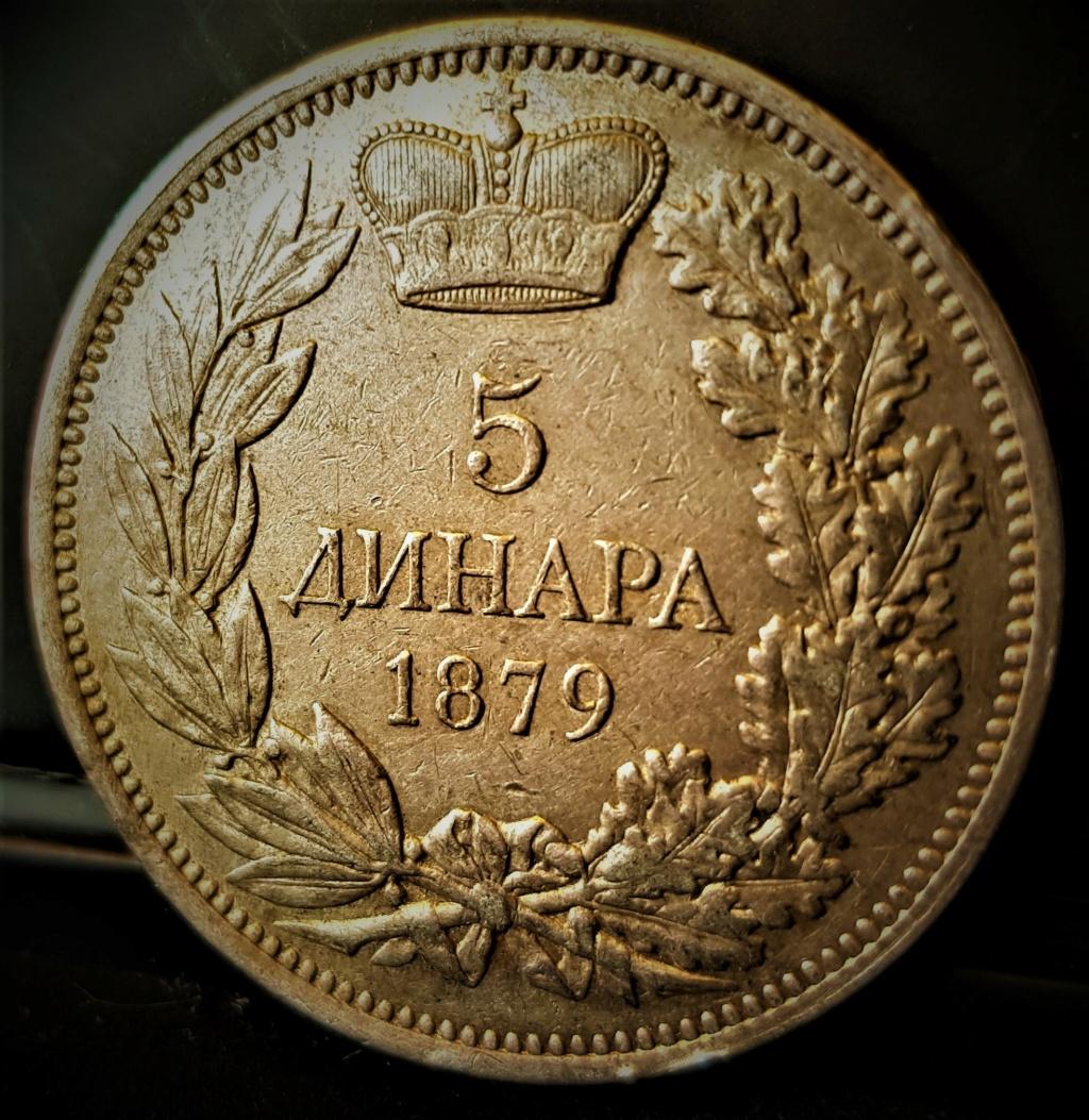 SERBIA 5 Dinara Milan Obrenovich IV 1879 20210714