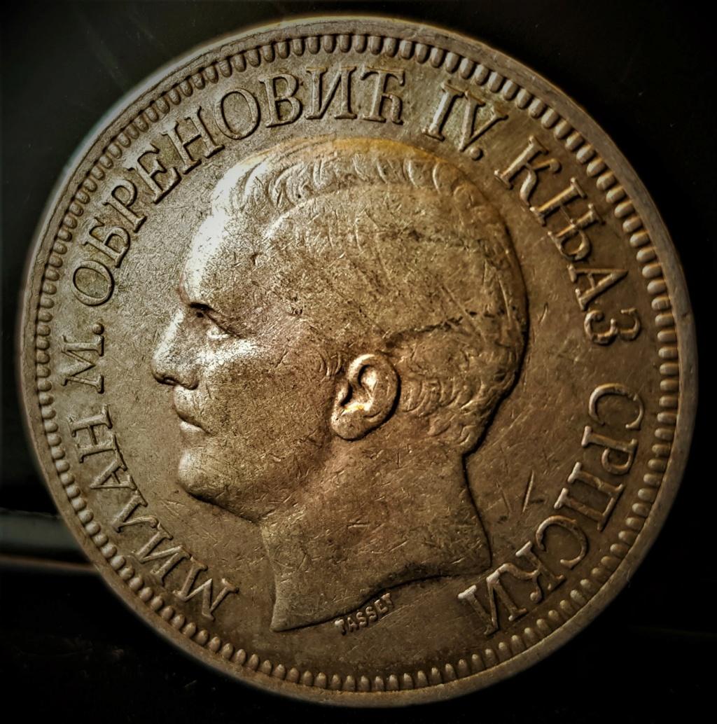 SERBIA 5 Dinara Milan Obrenovich IV 1879 20210715