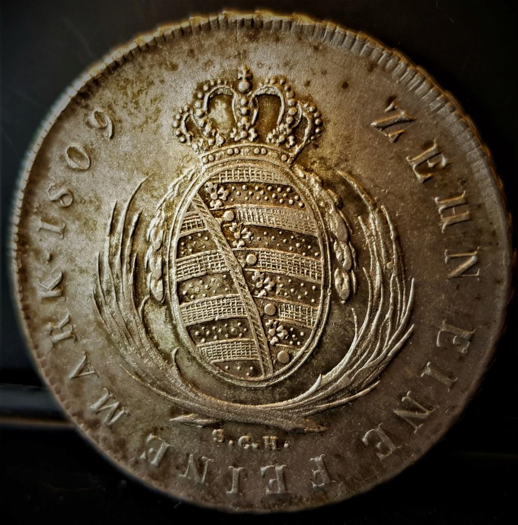 1 Thaler alemán de 1809 del Rey de Sajonia Federico Augusto III 20210722
