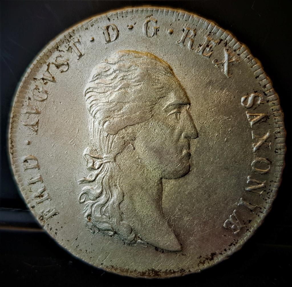 1 Thaler alemán de 1809 del Rey de Sajonia Federico Augusto III 20210723