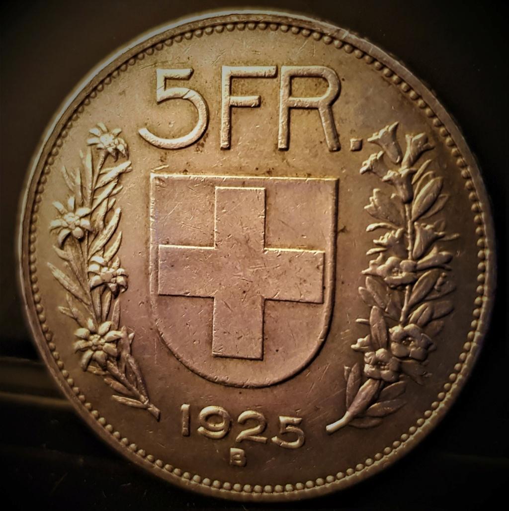 5 Francos Suizos de 1925 B 20210910