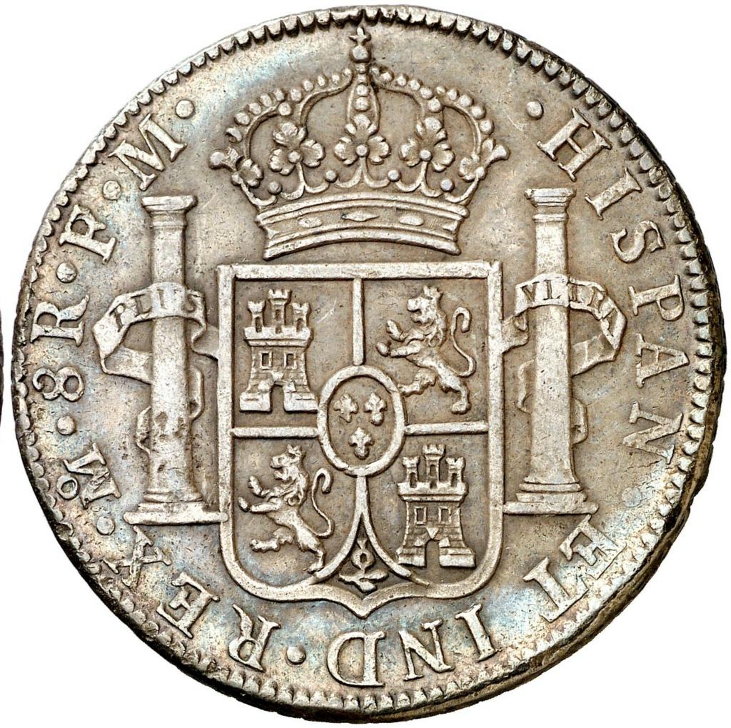 1790. Carlos IV. México. FM. 8 reales. Busto de Carlos III. Ordinal IIII 261110