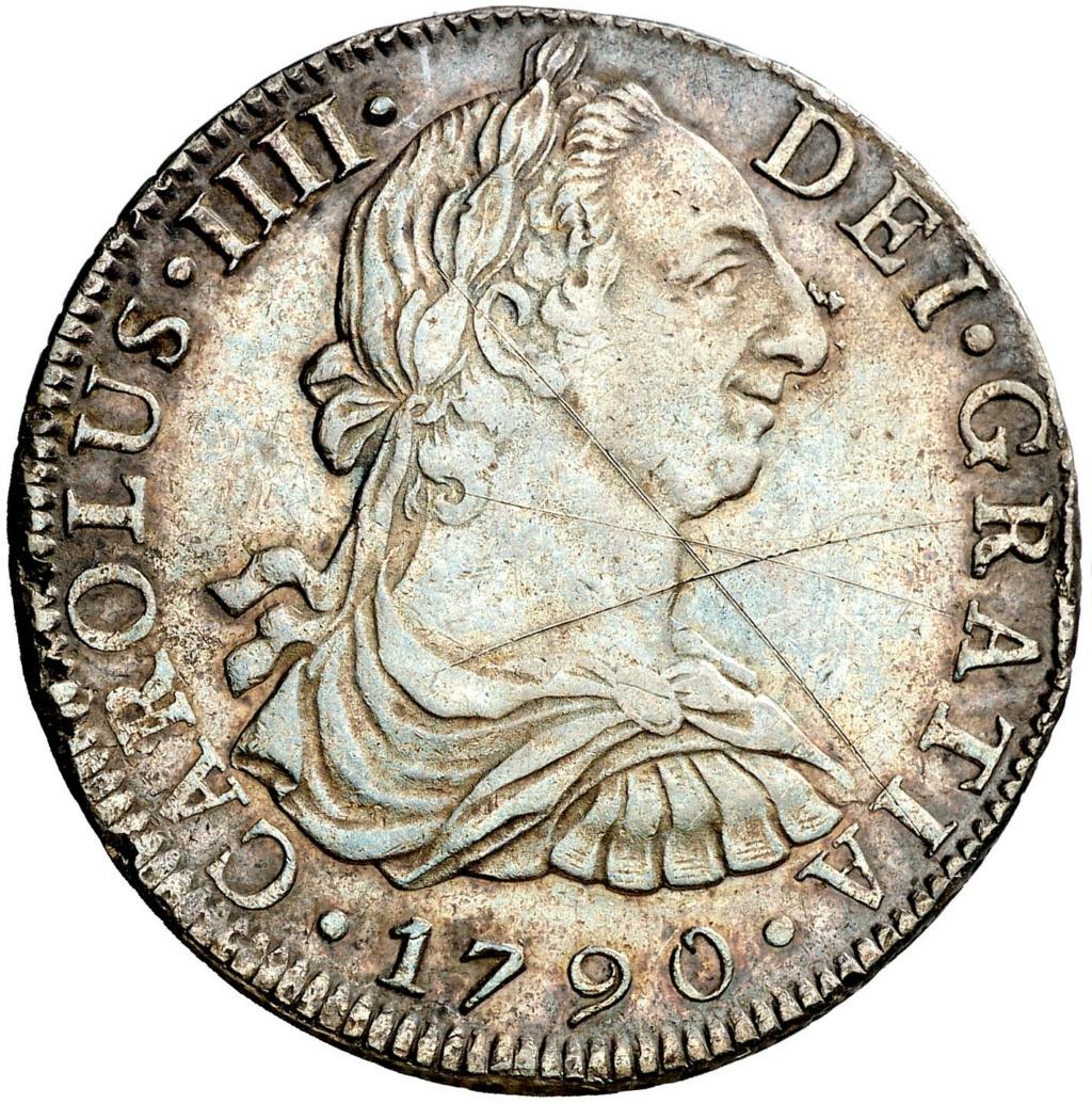 1790. Carlos IV. México. FM. 8 reales. Busto de Carlos III. Ordinal IIII 261210
