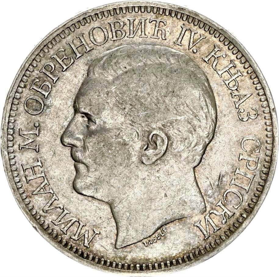 SERBIA 5 Dinara Milan Obrenovich IV 1879 Serbia11