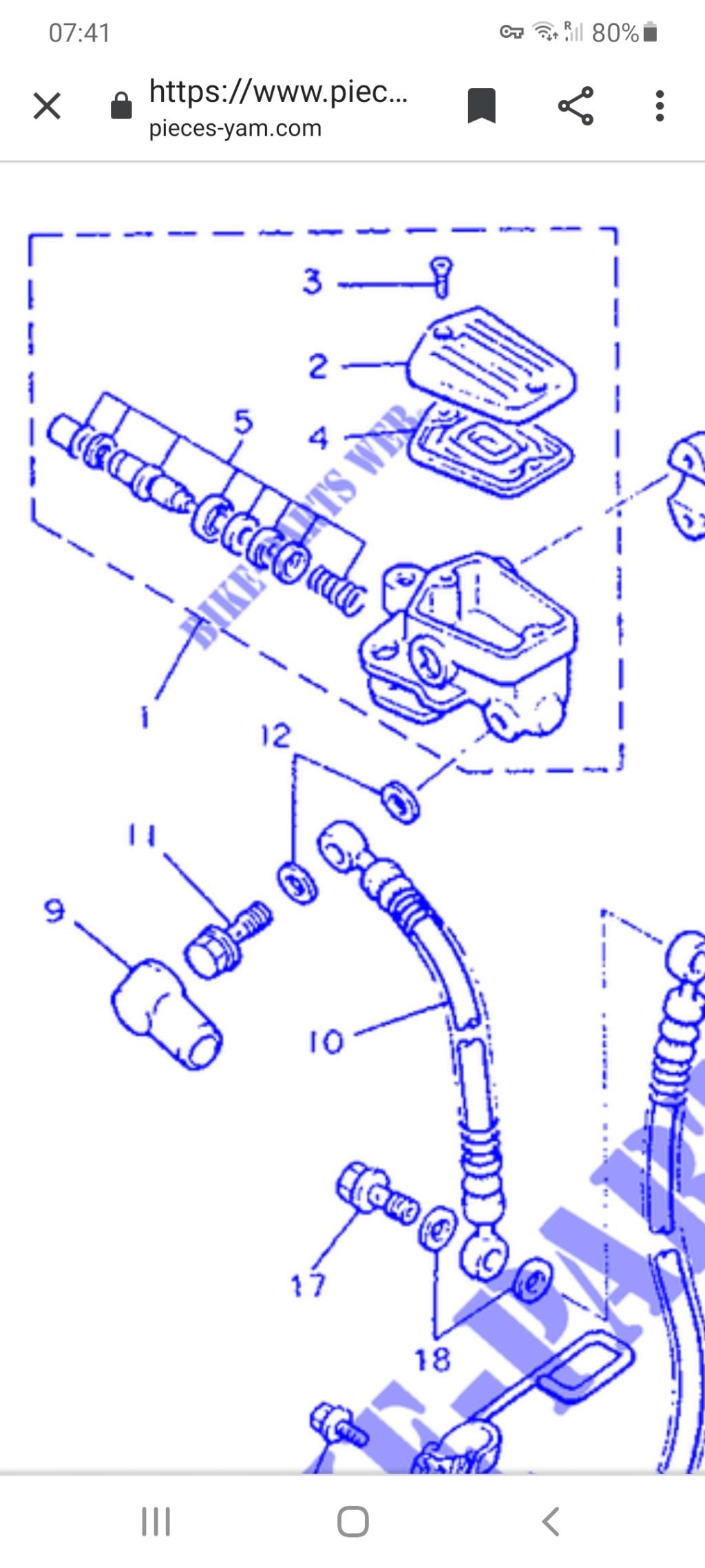 Maître cylindre frein avant. Screen11