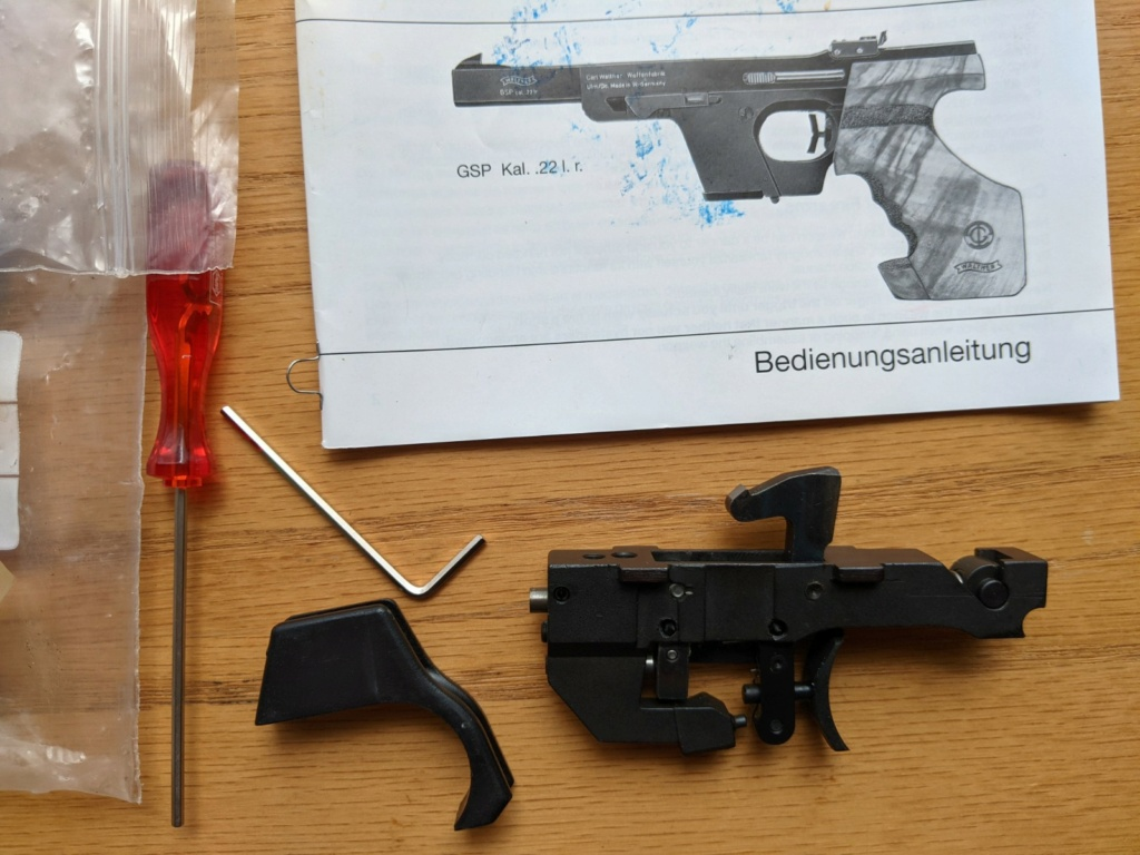 SOLD: Walther GSP two stage trigger assembly – 1360g – Walther part number: 248 44 04. Price drop to $200 Pxl_2013