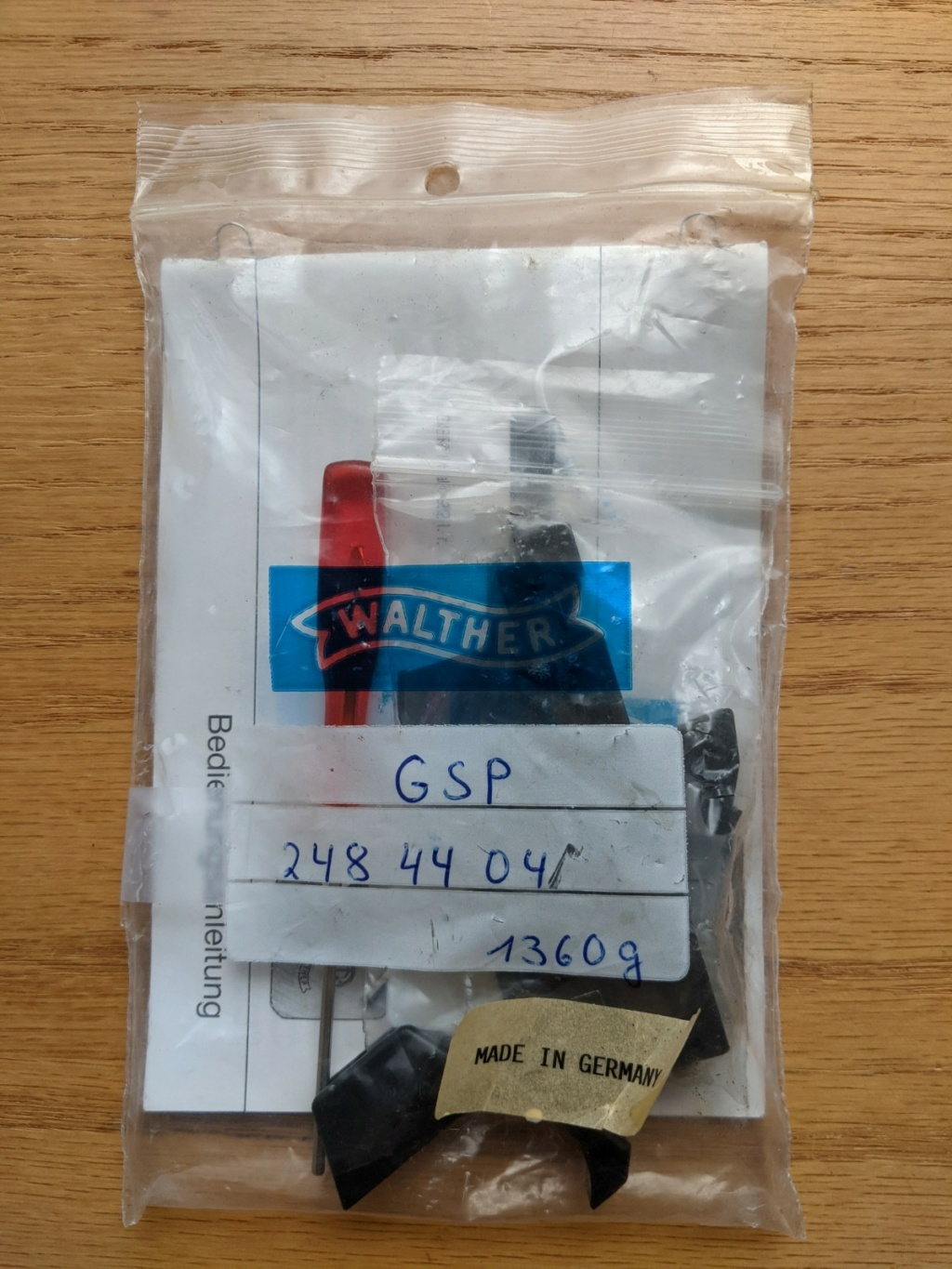 SOLD: Walther GSP two stage trigger assembly – 1360g – Walther part number: 248 44 04. Price drop to $200 Pxl_2014