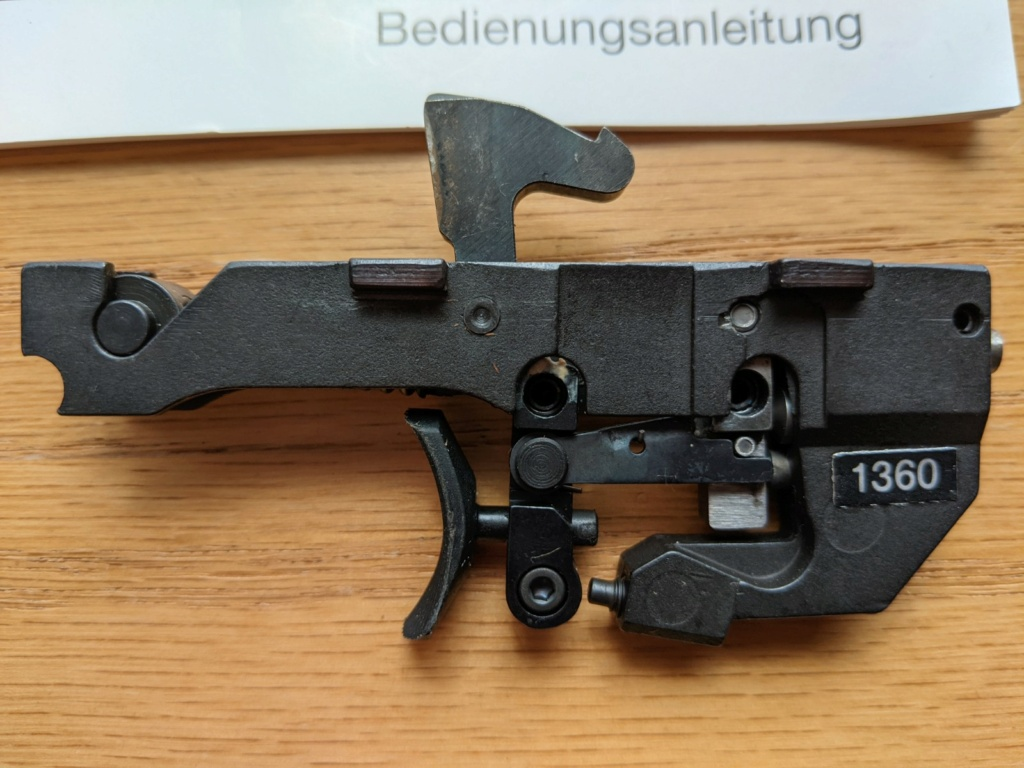 SOLD: Walther GSP two stage trigger assembly – 1360g – Walther part number: 248 44 04. Price drop to $200 Pxl_2015