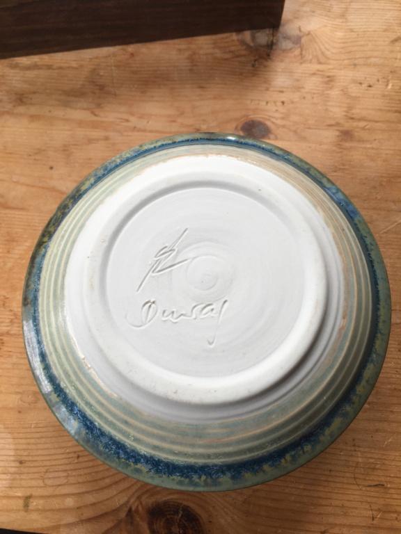 Newbie here! Blue glazed signed ceramic candlestick Afd5bc10