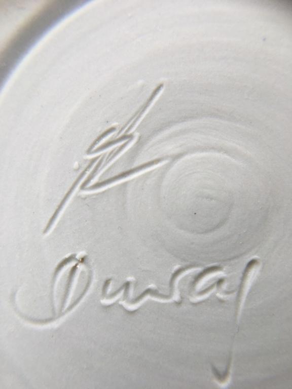 Newbie here! Blue glazed signed ceramic candlestick B4a0a310