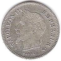 20 centimes Napoléon III 1867 Photo_12