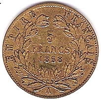 Napoléon III 5 FRANCS 1858 A OR Photo_18